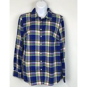 Talbots Plaid Button Down Shirt Small